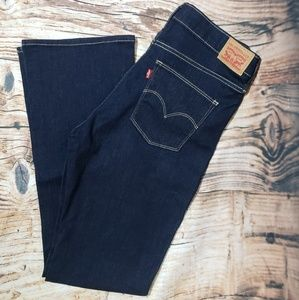 Levi's 32 Slimming Boot Dark Wash Jeans Stretch